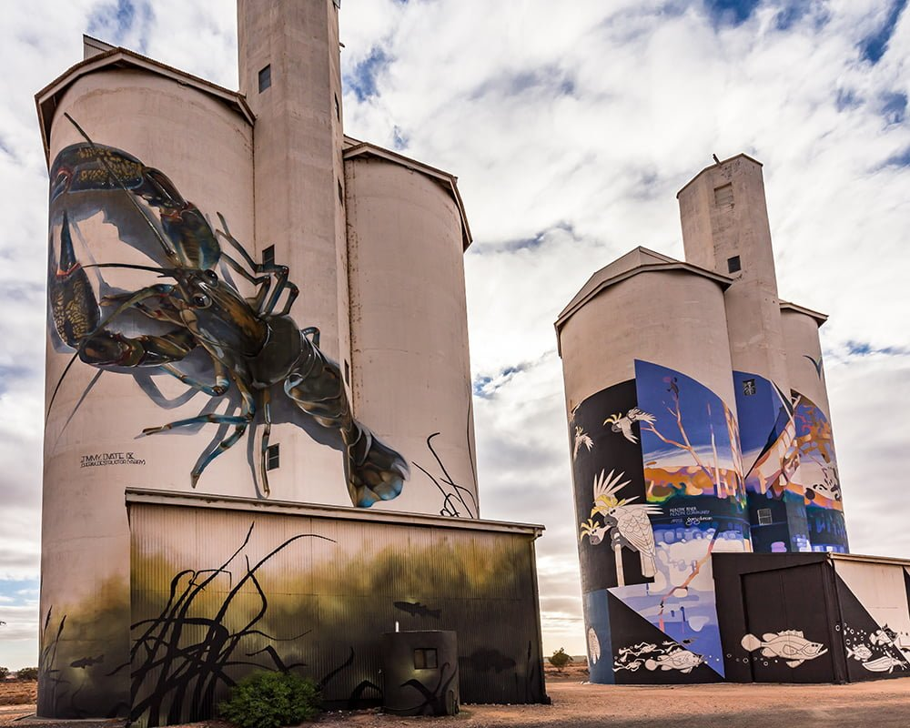 Silo murals in South Australia