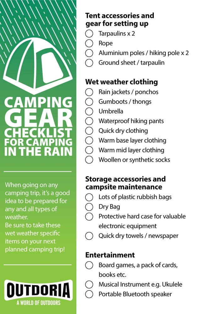 Camping in the Rain (and Why it Doesn't Have to Suck)