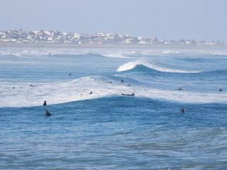 Surfers at Middleton Point